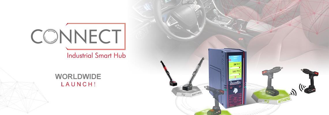 S hrdosťou vám predstavujem náš nový produkt INDUSTRIAL SMART HUB s názvom CONNECT: riešenie Desoutter 4.0!