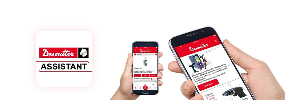 Stiahnite si aplikáciu Desoutter a budete mať vždy najnovšie informácie o našich montážnych produktoch a náradí na vŕtanie a takisto jednoduchý prístup k všetkým našim službám.