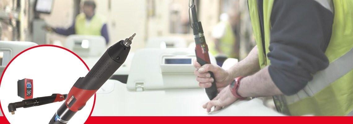 Zoznámte sa s produktovým radom ERS od spoločnosti Desoutter Industrial Tools: elektrické skrutkovače určené pre automobilový a letecký priemysel. Vyžiadajte si cenovú ponuku alebo prezentáciu!