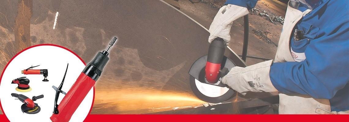 Hľadáte pneumatické brúsky pre kužeľové kotúče? Spoločnosť Desoutter Industrial Tools vyrába vysokovýkonné pneumatické brúsky. Vyžiadajte si prezentáciu!
