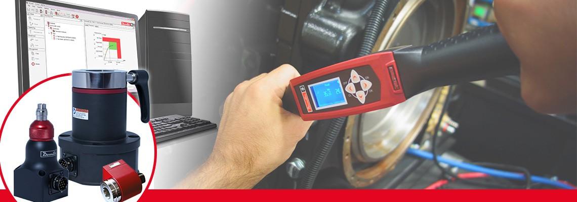 Spoločnosť Desoutter Industrial Tools vyrába komletný sortiment rotačných prevodníkov uťahovacieho momentu na meranie výstupného uťahovacieho momentu akéhokoľvek montážneho náradia iného než pulzného.